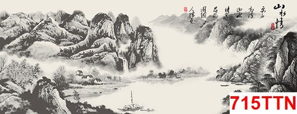 Nội dung chủ yếu tranh thủy mặc là phong cảnh hùng vĩ
