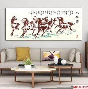 Tranh thủy mặc đàn ngựa mã đáo thành công