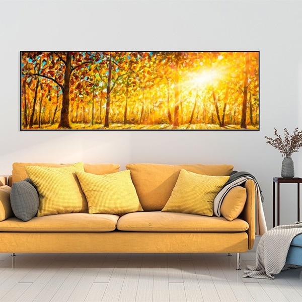 Bức tranh sơn dầu phong cảnh rừng cây mùa hạ CV01A497