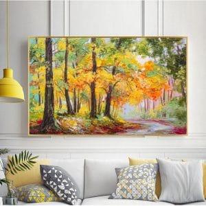 Tranh sơn dầu phong cảnh rừng cây CV01A500
