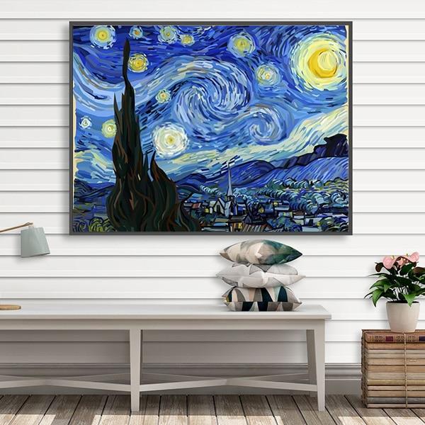 Bức tranh trời đầy sao sơn dầu Van Gogh