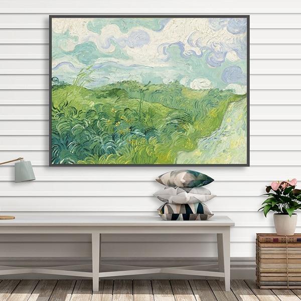 Tranh sơn dầu phong cảnh đồng cỏ của Van Gogh