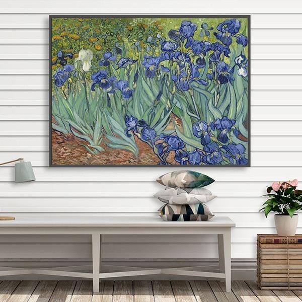 Bức tranh sơn dầu hoa diên vĩ Van Gogh