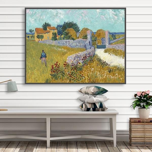 Tranh sơn dầu phong cảnh Farmhouse in Provence