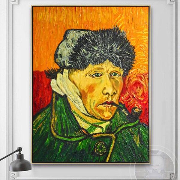 Tranh sơn dầu ông già hút thuốc Van Gogh