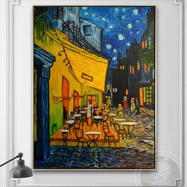 Tranh sơn dầu phong cảnh đường phố Van Gogh