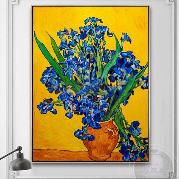 tranh tĩnh vật bình hoa sơn dầu Van Gogh