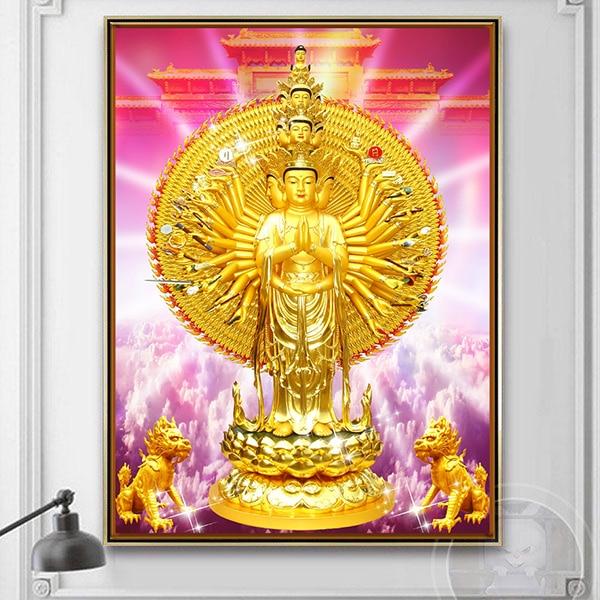 Tranh Bồ Tát Thiên Thủ Thiên Nhẫn CV01A524