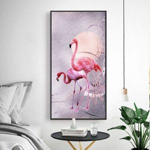 Tranh treo tường đôi hồng hạc CV01A571