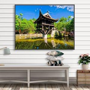 Tranh treo tường chùa một cột Hà Nội CV01A576