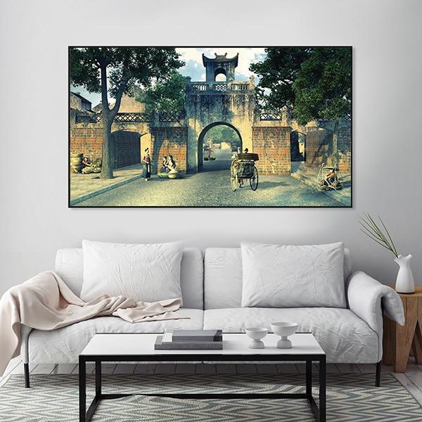 Tranh treo tường ô quan chưởng Hà Nội CV01A578
