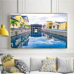 Tranh treo tường chùa cầu Hội An Quảng Nam CV01A583