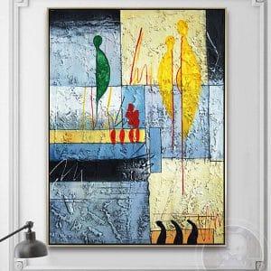 Tranh treo tường trừu tượng nghệ thuật CV01A590