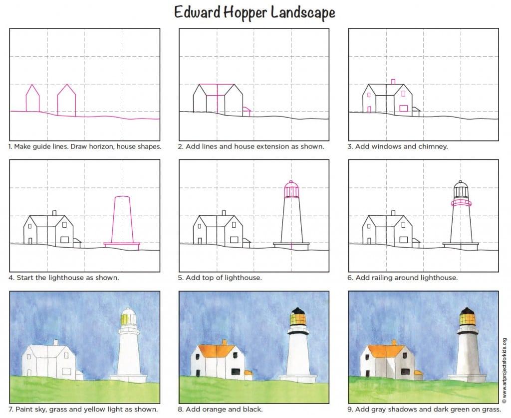 hướng dẫn vẽ tranh phong cảnh cho học sinh lớp 6