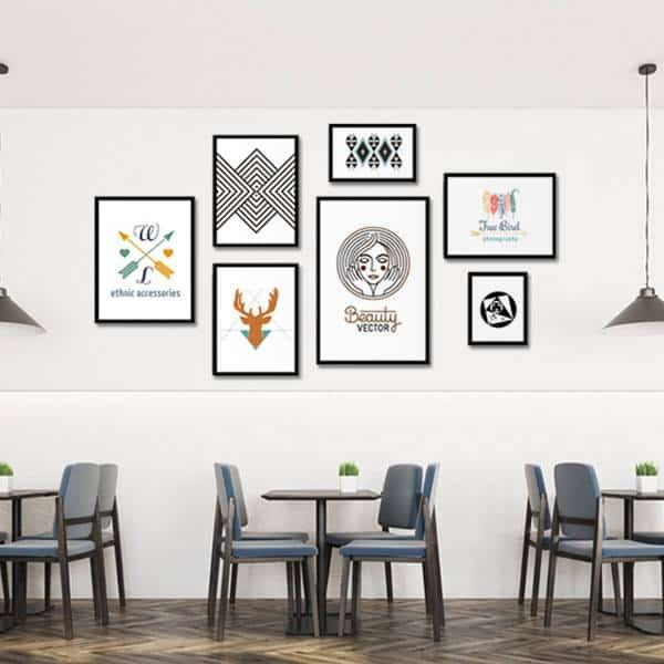 Tranh tường cho quán cafe hiện đại