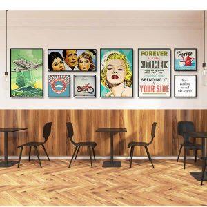 Bộ 8 tranh tường quán cafe ms0851