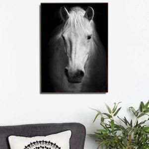 Tranh đơn ngựa bạch mã CV01107
