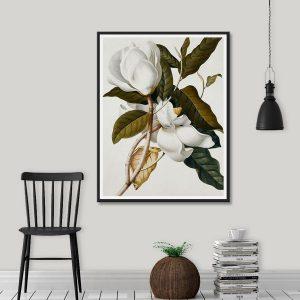 Tranh đơn hoa nhài trắng CV01108
