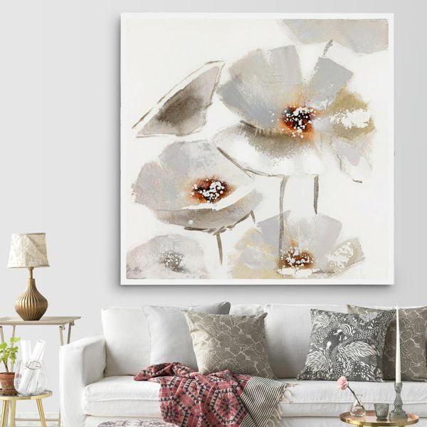 trang đơn vẽ hoa anh túc trắng CV01116