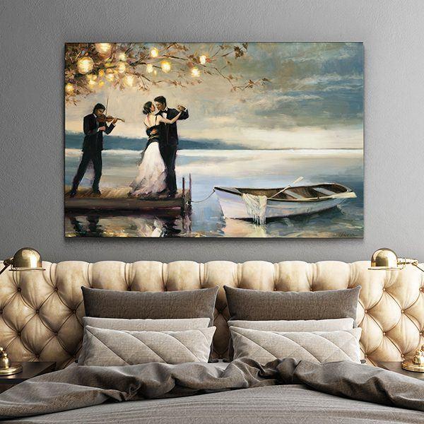 Tranh sơn dầu khiêu vũ chàng romeo và nàng juliet CV01123