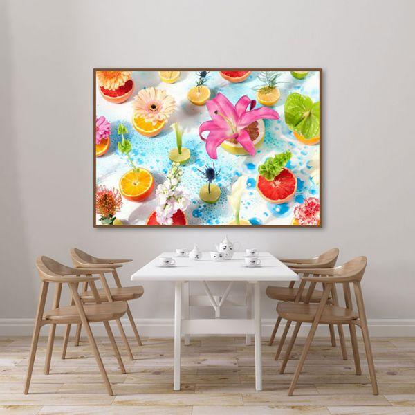 Lựa chọn tranh treo tường phù hợp với không gian phòng ăn
