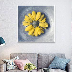 Tranh đơn hoa cúc vàng vẽ sơn dầu CV0146