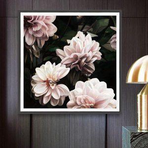 Tranh hoa mẫu đơn hồng nhạt CV0159