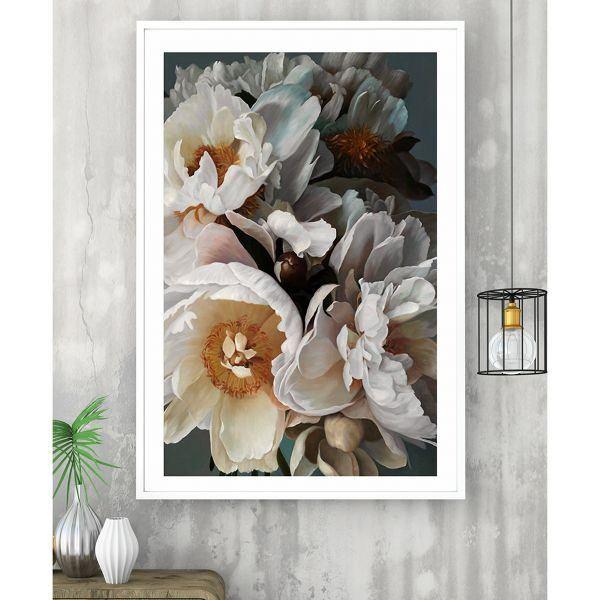 Tranh đơn hoa anh đào trắng CV0162