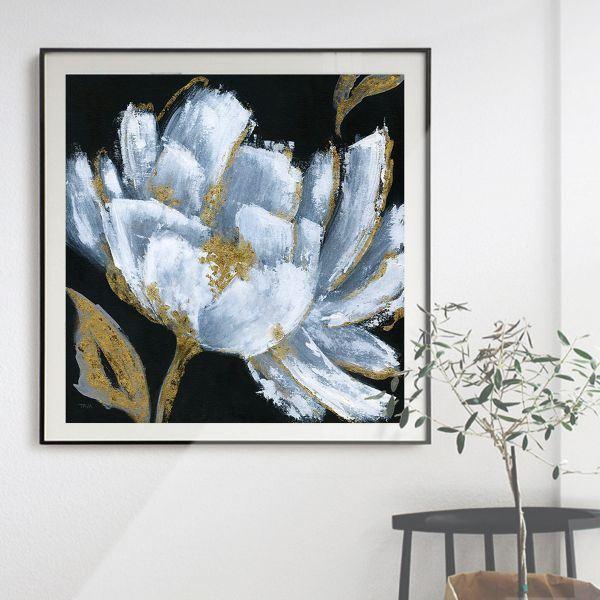 Tranh đơn vẽ hoa xanh CV0166