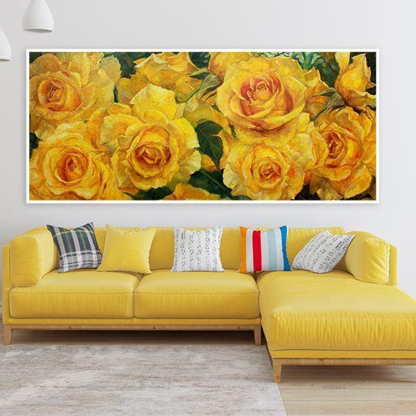Tranh đơn hoa hồng vàng CV0171