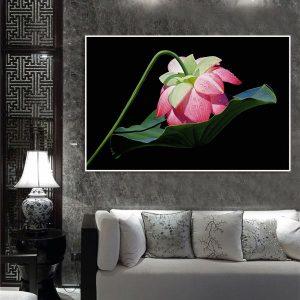 Tranh đơn hoa sen hồng CV0172