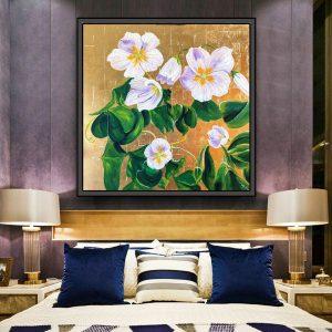 Tranh đơn vẽ hoa CV0173