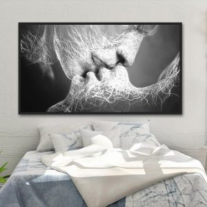 Tranh đơn nụ hôn CV0183