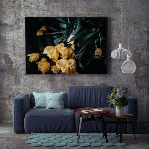 Tranh đơn hoa tulip vàng CV0185