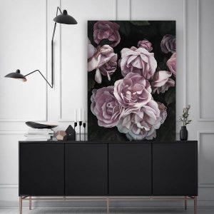 Tranh đơn vẽ hoa hồng CV0197