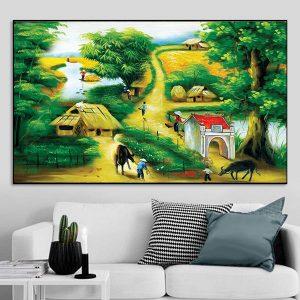 Tranh phong cảnh làng quê Việt Nam CV01A137