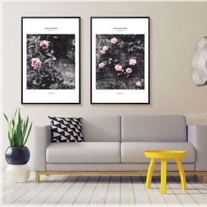Bộ 2 tranh hoa hồng là trầm CV0217