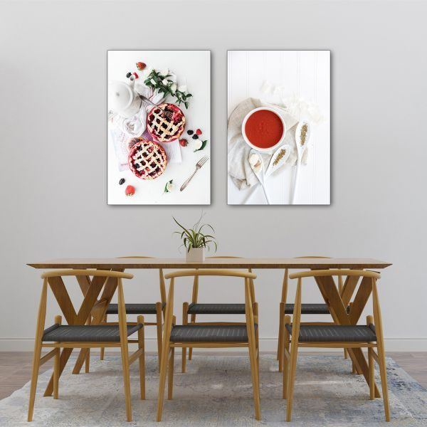 Bộ 2 tranh bánh ngọt và chén nước đỏCV0234