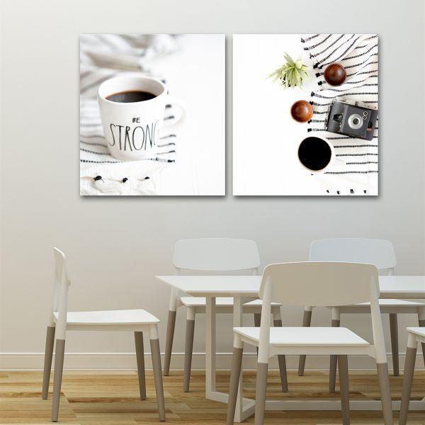 Bộ 2 tranh ly cafe và máy ảnh CV0239