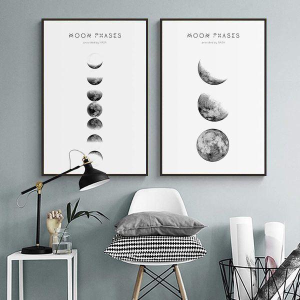 Bộ 2 tranh mặt trăng CV0247