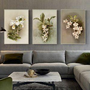 Bộ 3 tranh vẽ hoa lan CV03111