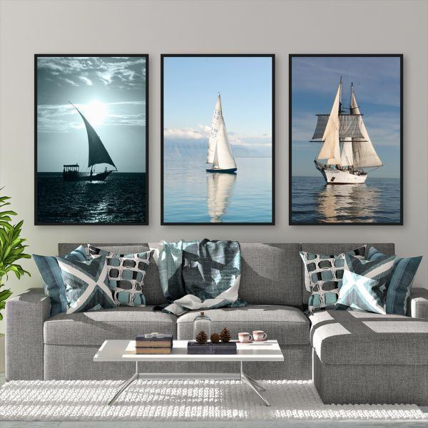 Bộ 3 tranh thuyền buồm CV0391