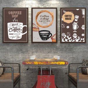 Bộ 3 tranh treo tường quán cafe CV03920