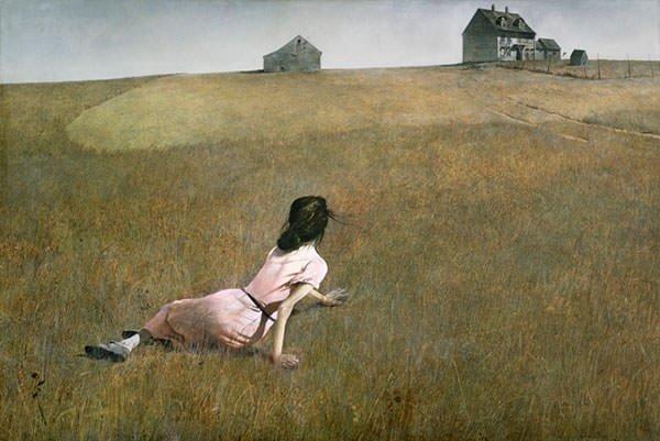 tranh phong cảnh cánh đồng THẾ GIỚI CỦA CHRISTINA
