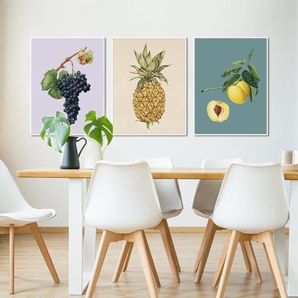 bộ tranh trái cây treo phòng bếp MS030