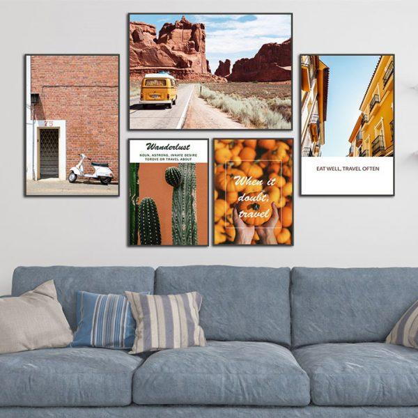 Tranh treo tường đẹp phù hợp với không gian căn nhà hiện đại