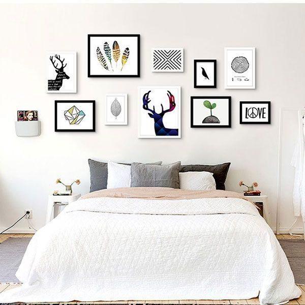 Bộ 10 khung tranh treo tường phòng khách MS100