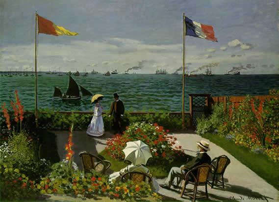 Claude Monet: La terrace de Sainte Adresse