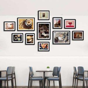 Bộ 11 tranh treo tường quán cafe ms114