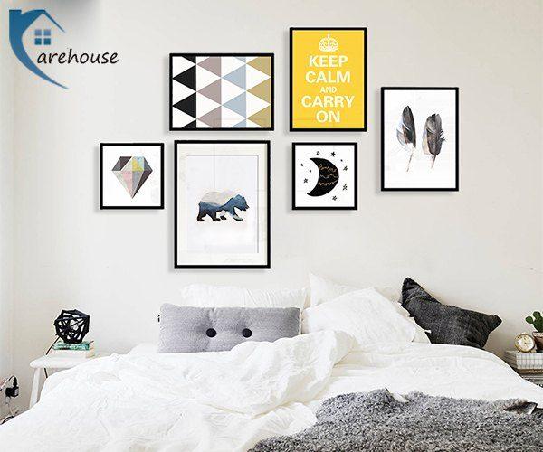 Chọn tranh treo tường phù hợp không gian phòng ngủ